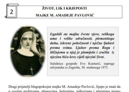 Upoznajmo majku M. Amadeju – Listić br. 2