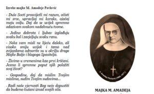Kratki životopis i izreke majke M. Amadeje Pavlović